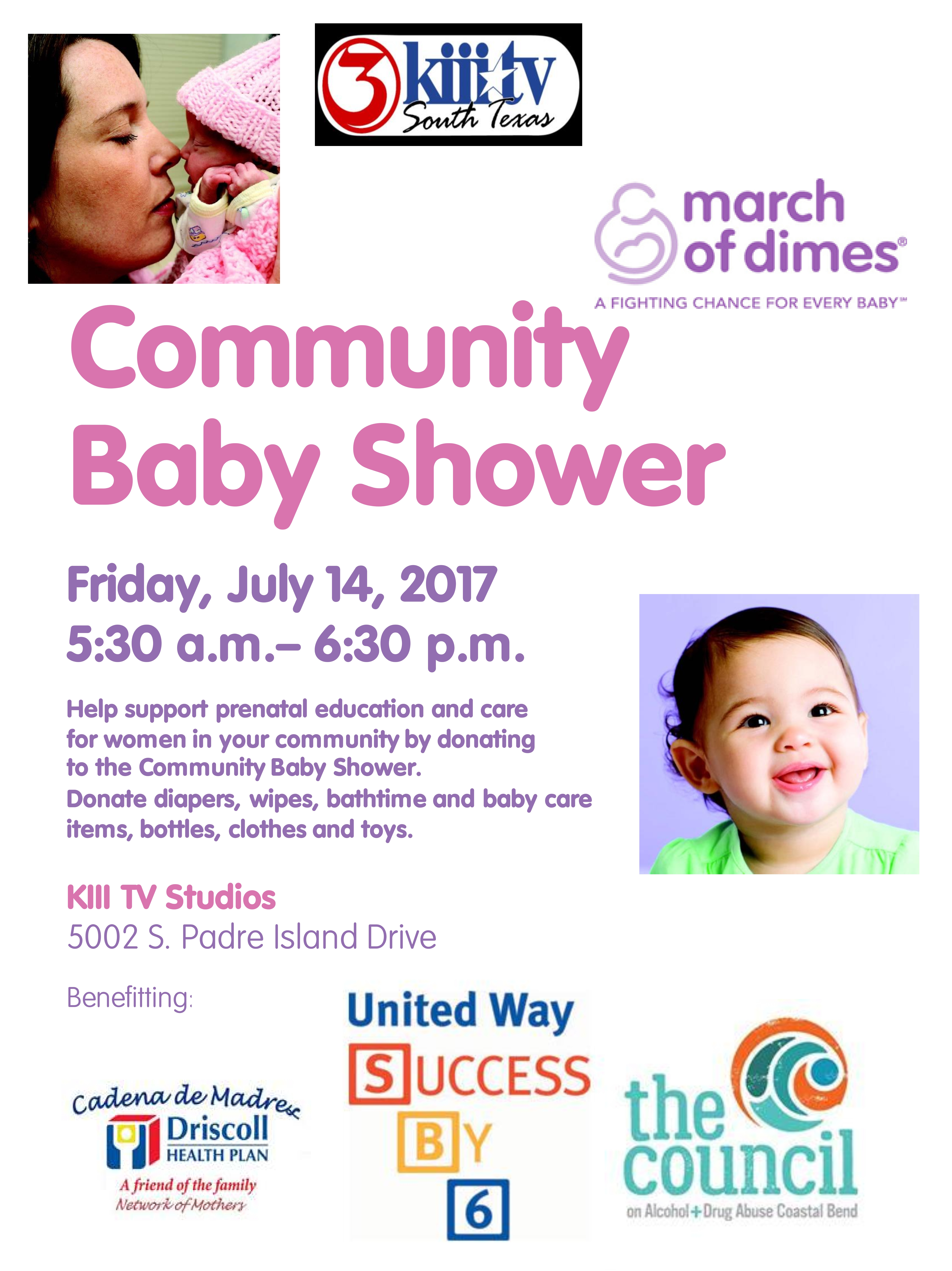 The Annual Community Baby Shower Is This Friday! Driscoll Health Plan (DHP)  And Its Partners Are Working To Help End Premature Births And Support  Prenatal ...